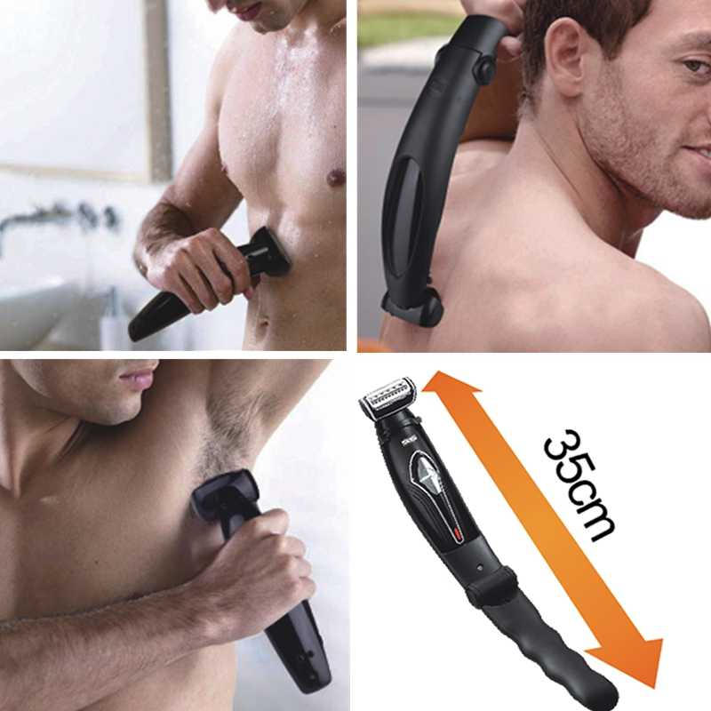 Facial, corpo, de volta máquina de barbear molhado seco barbeador elétrico folha de cabelo aparador de barba barbeador elétrico