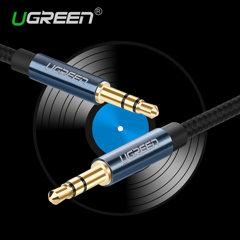 ugreen aux cable jack car audio cable nylon braided stereo aux cord male to male cable for. Black Bedroom Furniture Sets. Home Design Ideas