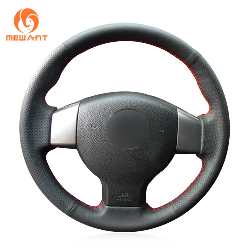 MEWANT Noir Artificielle En Cuir Couverture De Volant de Voiture pour Nissan Tiida 2004-2010 Sylphy 2006-2011 Versa 2007 -2011 Versa Note
