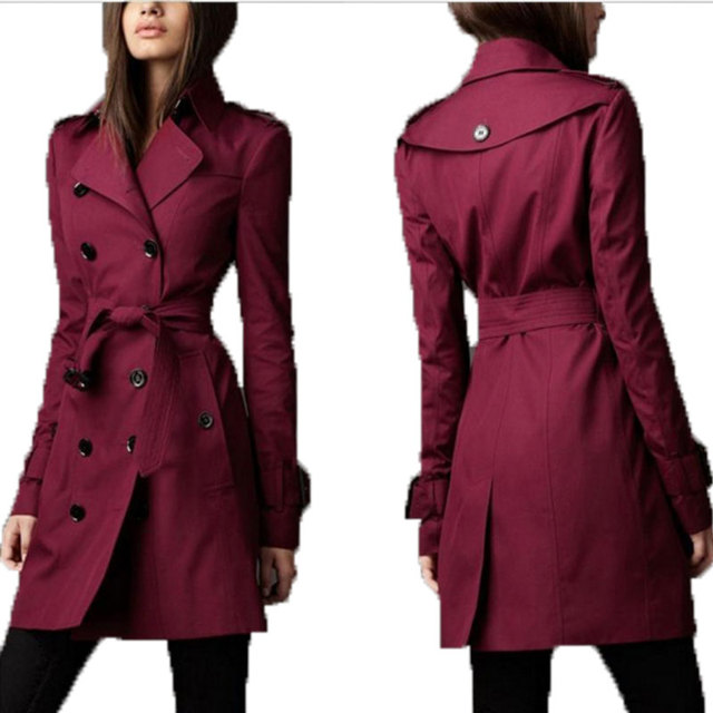 Women Coat  Europe In The Autumn Of 2015. The New Europe And The British Tide Double Breasted Long Slim Windbreaker Explosion
