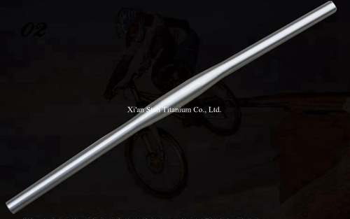 Titanium GR9(Ti-3AL/3.5V) Bike Horizontal One Shaped Handlebar  25.4mm / 31.8mm x Customized Length for Mountain Bicycle