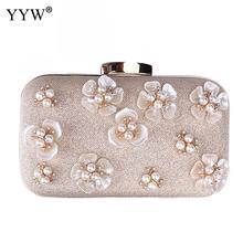 Zinc Alloy Evening Party Clutch Bag Plastic Floral Diamonds Pearl Evening  Bag Clutches Frosted Wallets Zipper 8406e5d24910