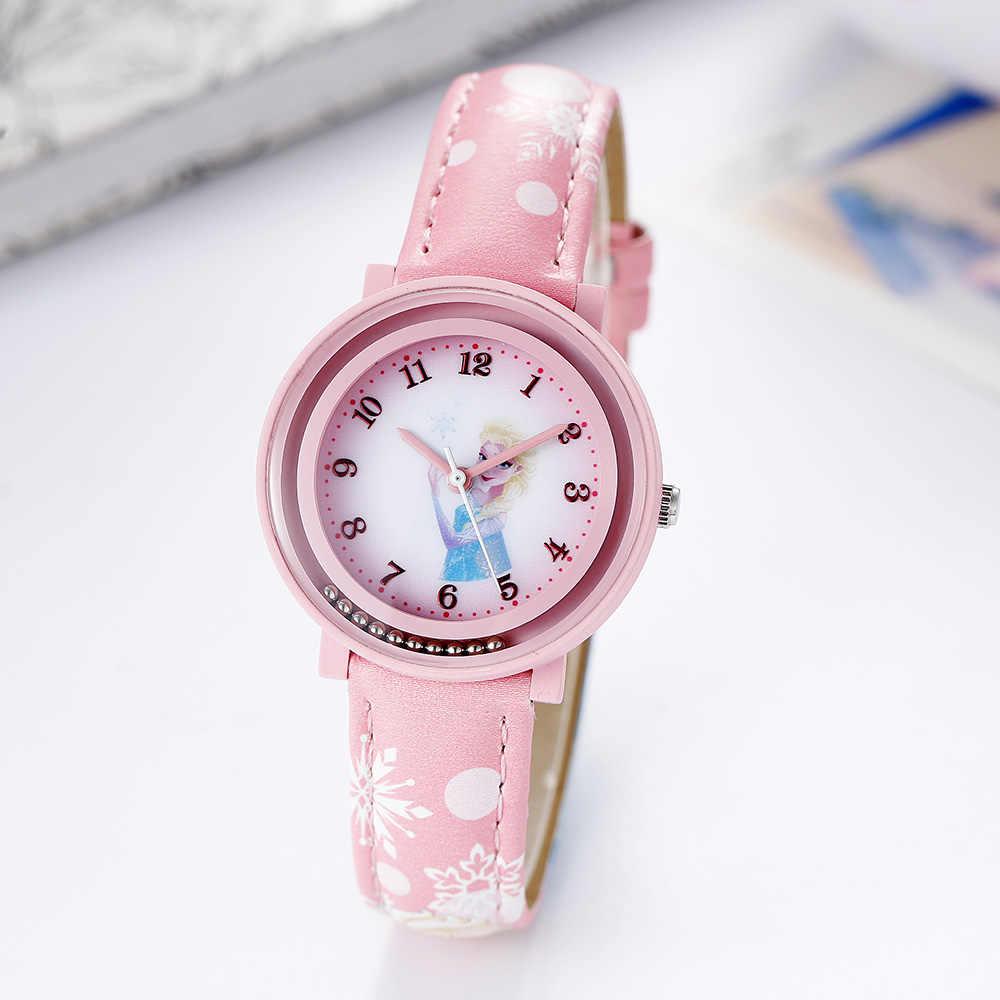 Disney бренд offical 2018 наручные часы замороженные София принцесса кожаные детские часы для девочек Кварцевые водонепроницаемые