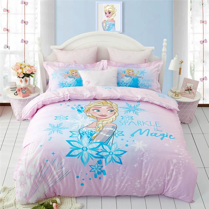 Cheap Bedroom Sets Kids Elsa From Frozen For Girls Toddler: Disney Frozen Princess Anna Cotton Bed Linen Printed Bed