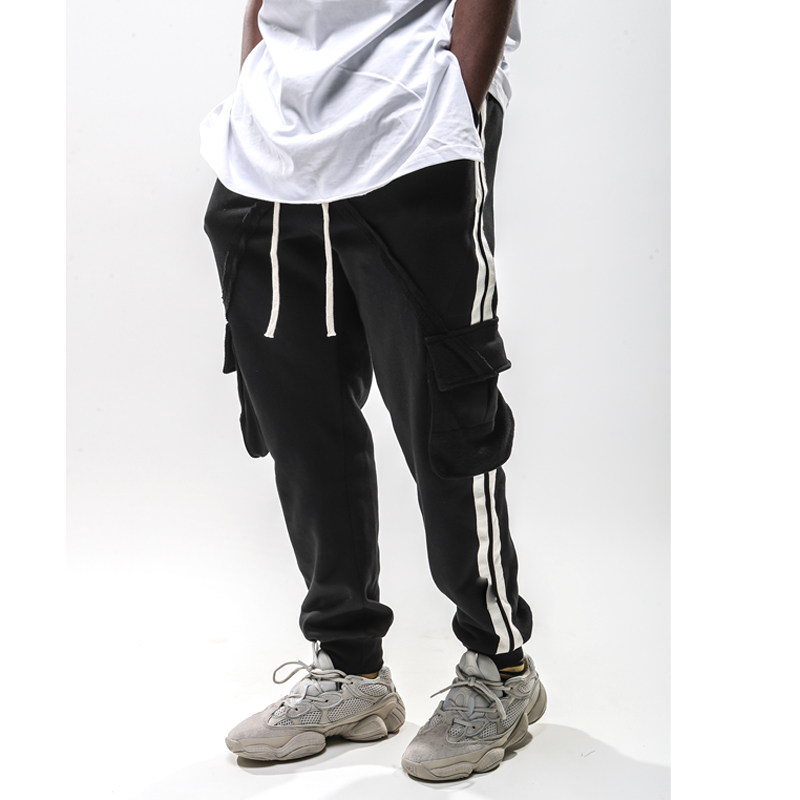 2019 new deisgn Long Cargo Pants Men Casual Pockets Cargo Harem Joggers Trousers Fashion Fitted Bottoms hiphop streetwear in Cargo Pants from Men 39 s Clothing