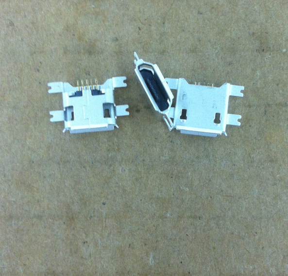200PCS/Lot Micro USB Female connector Jack SMT Sinking Plate 1.17mm 5PIN 5P Charging for mobile Phone/Table/android