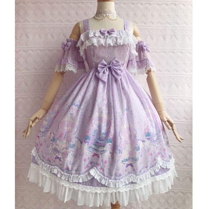 유니콘의 시크릿 가든 ~ sweet printed lolita jsk dress w. Yiliya의 분리 가능한 슬리브-에서드레스부터 여성 의류 의  그룹 1