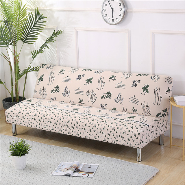 Universal Armless Sofa Bed Cover Folding Slipcover Stretch Covers Couch Protector Elastic Futon