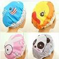 1 PC accesorios de baño de ducha impermeable sombrero elástico sombrero baño sombrero lindo conejo de dibujos animados los niños REGALOS FESTIVOS León pato Panda ducha sombreros