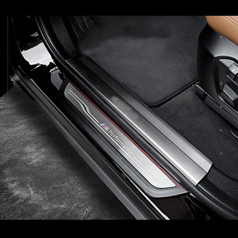 M performance Welcome pedal Threshold Bar cover trim strips For BMW 1 3 4 5
