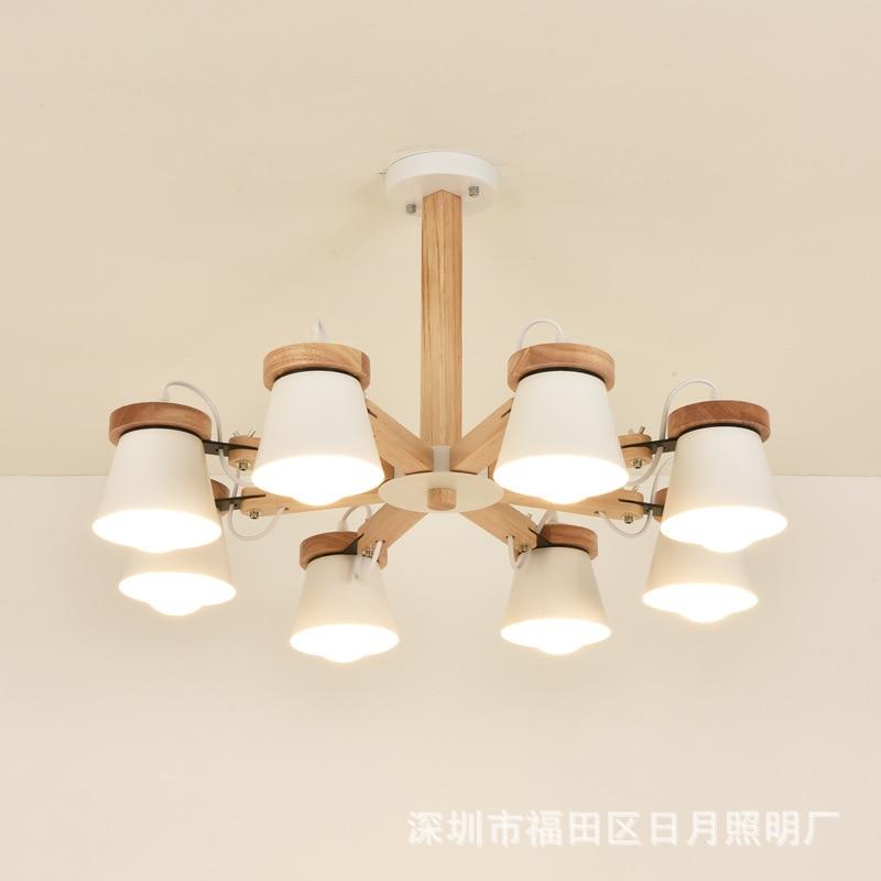 Здесь продается  Nordic Pendant Lights For Home Lighting Modern Hanging Lamp Wooden Aluminum Lampshade LED Bulb Bedroom Kitchen Light 90-260V E27  Свет и освещение