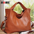 2016 New fashion leather handbags designer brand women messenger bag women leather shoulder bag ladies cowhide totes