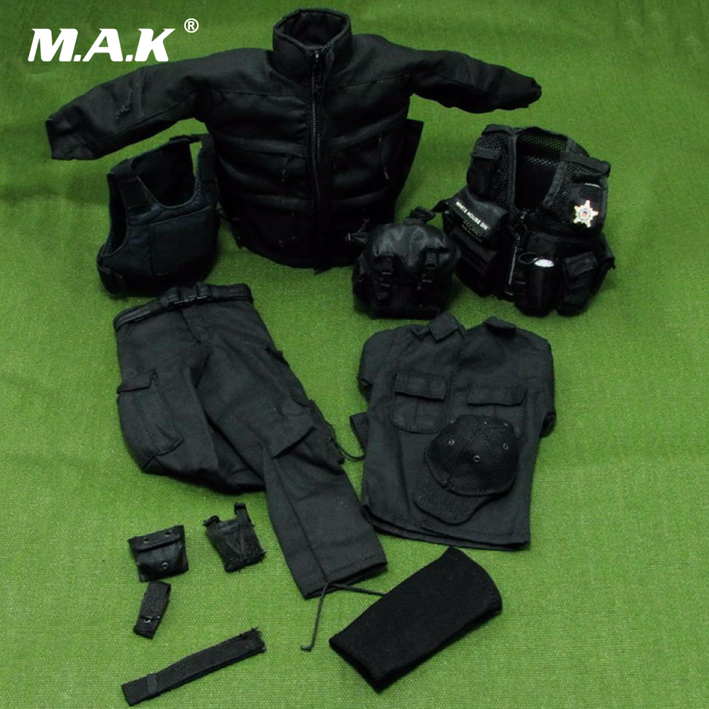 1/6 Scale U.S. SECRET SERVICE SWAT Soldier Male Clothing Model Toys For 12 Action Figure  Body Accessory 1 6 scale desert camouflage tactical vest male cloths for 12 action figure soldier body accessories toys