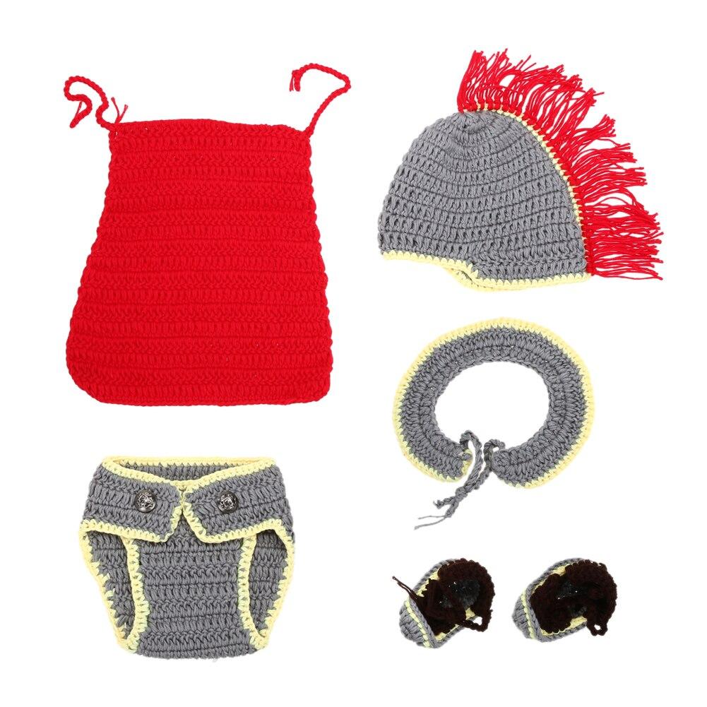 От 0 до 4 месяцев ребенок опора для новорожденных Обувь для девочек Обувь для мальчиков хлопок крючком вязать костюм Hat Брюки для девочек мул...