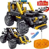 311pcs Legoingly Technic Motor Drive SUV RC Serie Radio Remote Control Vehicle Machine Simulation RC Car Blocks Toy For Children