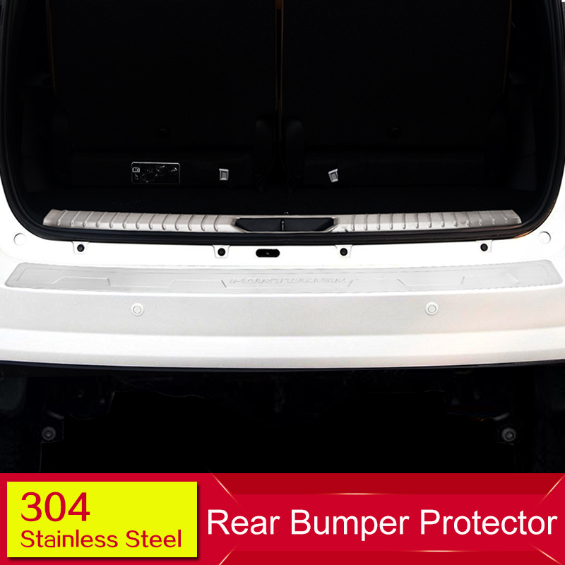 High Quality Car Styling Stainless Steel Inner Rear Bumper protector for for TOYOTA Fortuner 2016 year car styling cover detector stainless steel inner built rear bumper protector trim plate pedal 1pcs for su6aru outback 2015