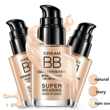 BIOAQUA 1PCS BB კრემი Concealer გამათეთრებელი ბაზა 30ml დამატენიანებელი საწინააღმდეგო ნაოჭების საწინააღმდეგო სახის კანისთვის მაკიაჟი ბუნებრივი სილამაზის