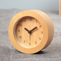 Creative Personality Bedroom Cute Clock Clock Table Clock Wooden Clock Mute Student Fashion Minimalist Mini