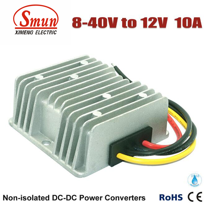 Non-isolated Waterproof 12V 24V 36V to 12V 10A 120W Boost Buck DC-DC Converter  dc dc converter 12v to 24v 5amax 120w for cars non isolated