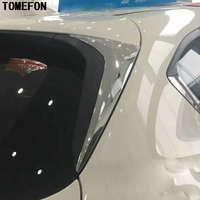 TOMEFON 2pcs ABS Chrome Side Door Rear View Window Spoiler Cover Trim Triangle Car Styling For Mazda CX9 CX 9 2016 2019