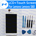 For Lenovo S60 LCD Display+Touch Screen 100% New Digitizer Glass Panel For Lenovo S60W 1280X720 HD 5.0inch Phone Free Shipping