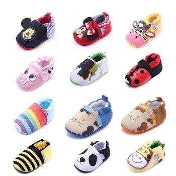 b03e2db02 Suela de goma zapatos de bebé de 0-2 años niños niñas invierno suave en  primer lugar los caminantes niño niños antideslizante zapato de dibujos  animados de ...