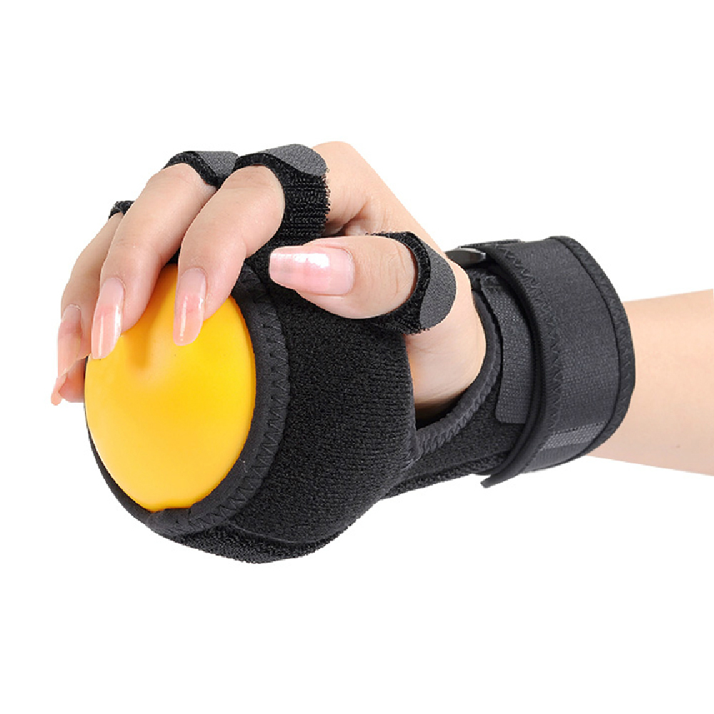 Ejercicio de rehabilitación de la bola de la mano de la ortesis de dedo de la férula de la bola antiespasticidad de la mano