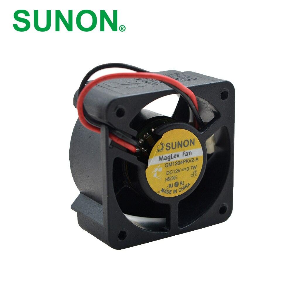 Free shipping Original  SUNON 4020 12V 0.7W GM1204PKV2-A ultra quiet 2 wire cooling fan free shipping original new nidec h60t12bs2a7 53 6025 6cm 12v 0 35a ultra durable fan