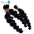 RosaQueen Hair Products Brazilian Virgin Hair Loose Wave Human Hair Bulk For Braiding 100g Human Braiding Hair Natural Wave