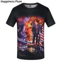 KYKU Brand Donald Trump Shirt America Black USA T Shirt Men Military Tshirt War 3d T-shirt Hip-hop Mens Clothing Fashion Clothes