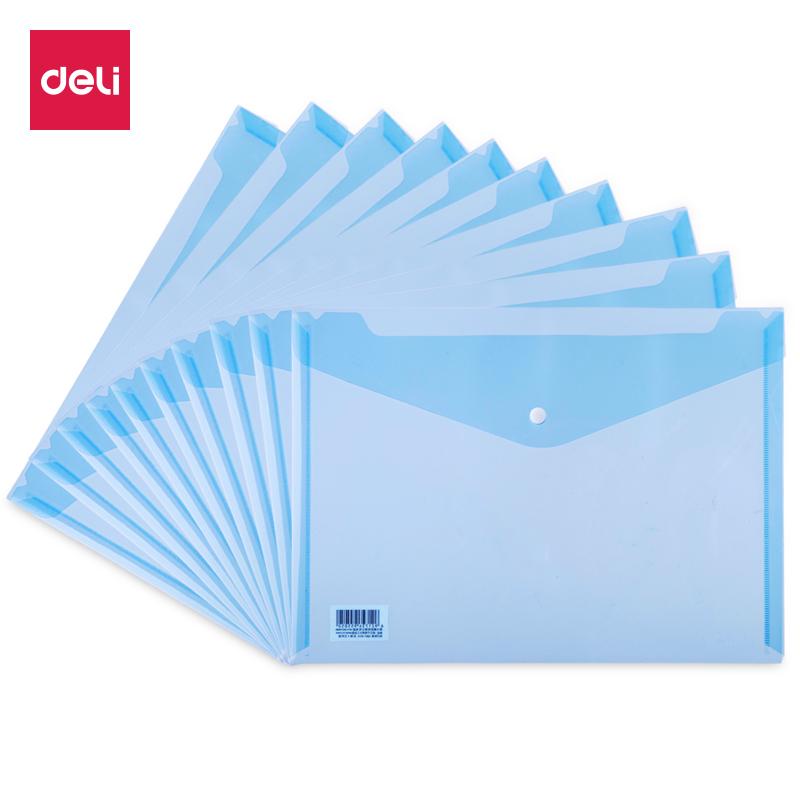 Deli 10pcs/set A4 File Folder Bag Durable Waterproof Paper File Document Folder Bag Office File Filing Product