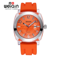WEIQIN Auto Date Man Brand Watches Shock Waterproof Silicone Strap Military Outdoor Casual Watches Quartz Clock