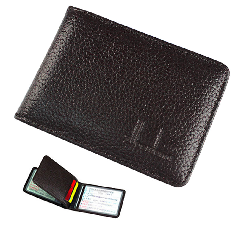 Купить с кэшбэком Hot High Quality Driver License Cover Genuine Leather Car Driving Documents Bag Credit Card Holder ID Card Case 3 Folds T3579