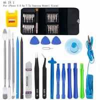 46 in 1 Mobile Phone Screen Opening Repair Tools Kit Screwdriver Pry Disassemble Tool Set for iPhone Samsung Huawei Xiaomi