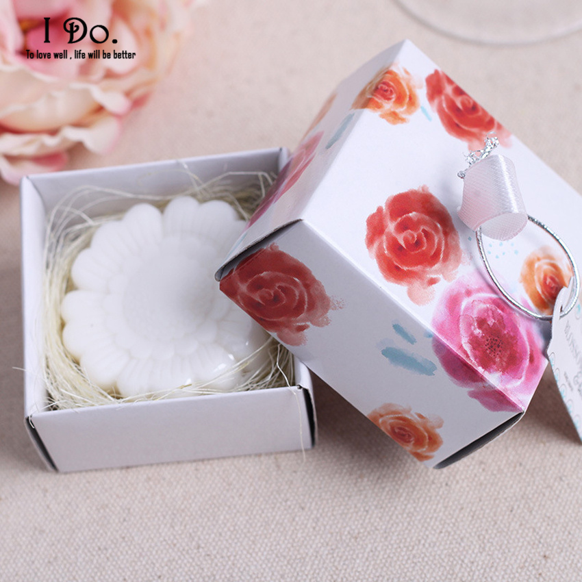 free shipping rose soap wedding favors and gifts for guests souvenirs decoration event party supplies