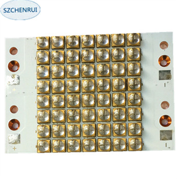 The New 448 watts high-power LED UV violet 6565 365nm 370nm 380nm 385nm 395nm   400nm 405nm 60*87mm board 216 watts high power led uv violet 3535 gold plated bracket 365nm 370nm 380nm 385nm 395nm 400nm 405nm 59 87mm board