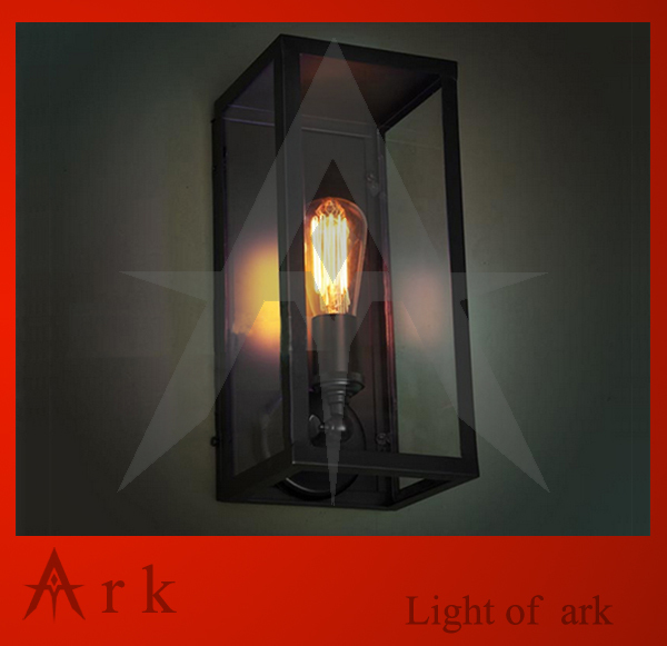 ark light FREE SHIPPING Vintage iron  wall lamp light american wrought iron glass lamps платье lucky move lucky move mp002xw1f73c