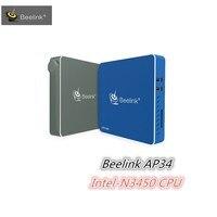 2017 Mesuvida 새로운 도착 원래 셋톱 박스 Beelink AP34 미니 PC 인텔 펜티엄 N3450 CPU 비트 쿼드 코어 Win10