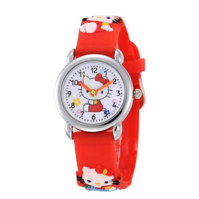 New Design Kid Baby Hello Kitty Watches 2018 Children Cartoon Watch Kids Cool 3D