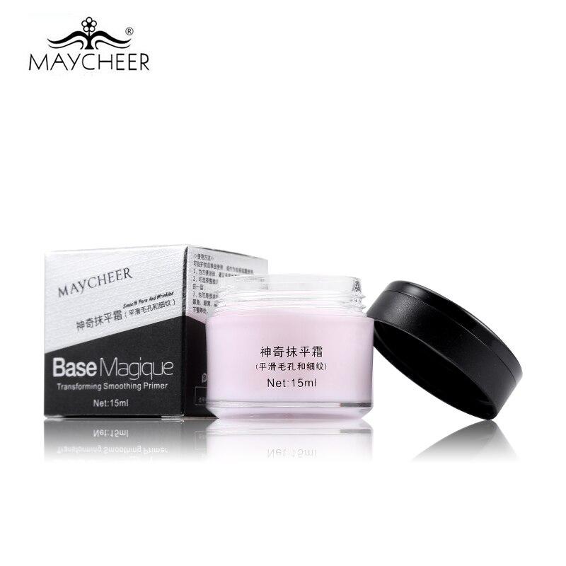 Marca nueva cara corrector imprimación de maquillaje cubierta poro arrugas Base de Control de aceite duradero 100% efecto increíble 15 ml