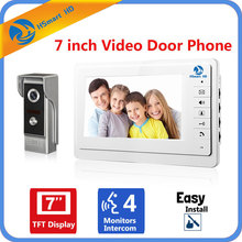 7″ inch Color Screen Video Doorphone Door Bell Sperakerphone Intercom System Rainproof Metal IR HD 700TVL COMS Camera Door Phone