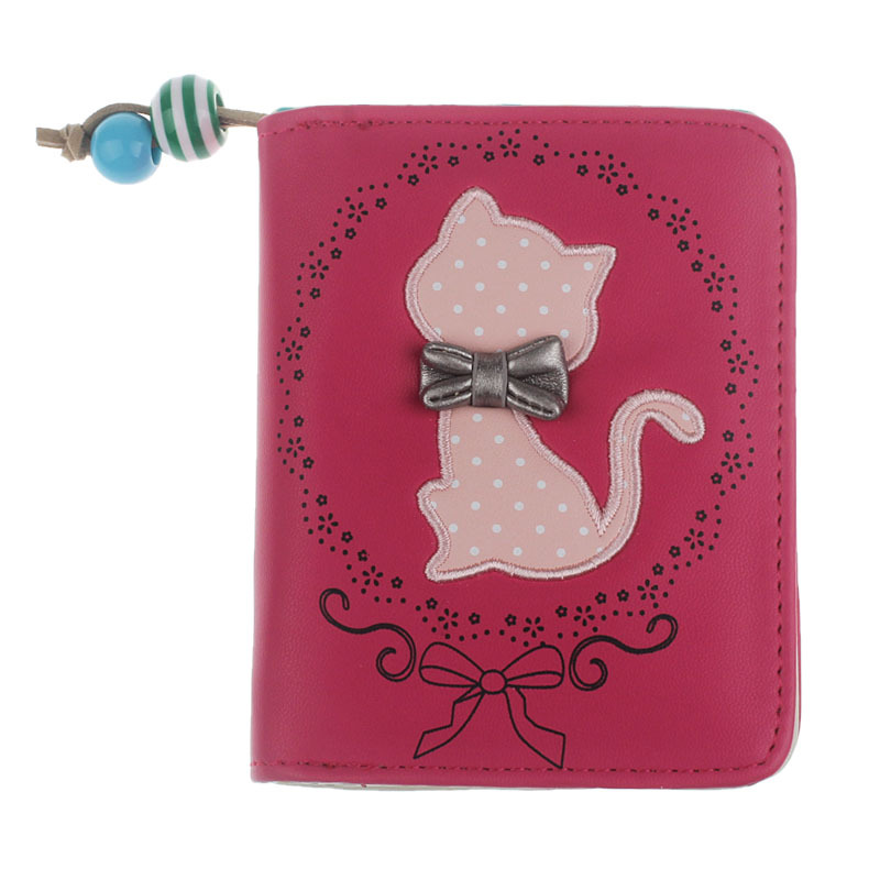 Women's Wallet Printing Odd Tail Cat Purse Femal Short Wallet Bags PU Handbags Card Holder Wholesale Drop Shipping #T hot sale fashion magical fashion women cat purse short wallet bags pu handbags card holder x dropship