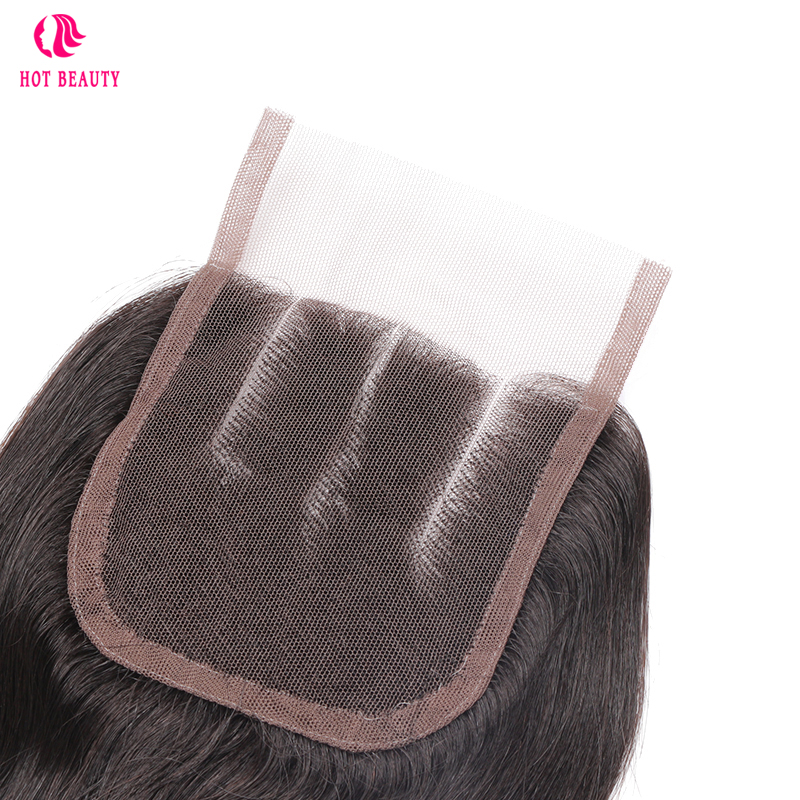 HOT BEAUTY Hair Brazilian Body Wave Human Hair Lace Closure 8-20 inch 4X4 Free Part/Middle Part/Three Part Closure Free Shipping