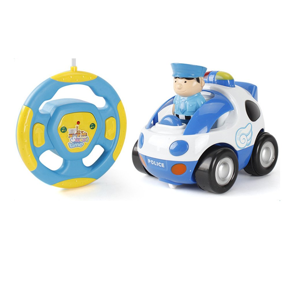 RC Cartoon Race Car Toy with Light Music Remote Control Cars Birthday Present