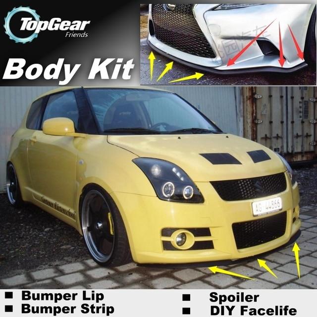 Bumper Lip Deflector Lips For Suzuki Swift Front Spoiler Skirt TopGear Fans To Car View