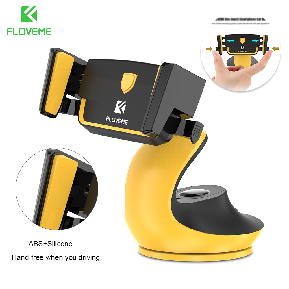 FLOVEME Car Phone Holder Stand For IPhone 11 Pro Max XR Automatic Lock Table Holder Bracket Phone For Samsung S10 GPS Support