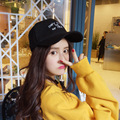 Autumn and winter alphabet wool baseball cap Black hip-hop hat Tide couple caps