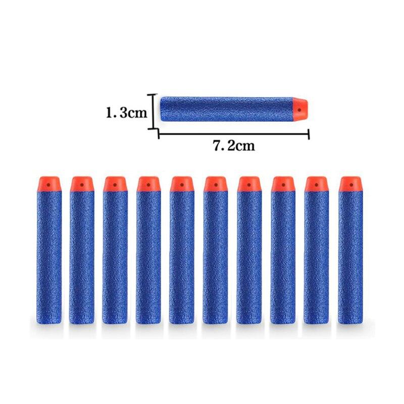 100Pcs Soft Gun Bullets Air Hole Foam Nerf Refill Darts Bullet Hollow Hole Head 7.2cm for N-strike Elite Series Blasters Kid