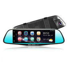 8 Inch Dual Lens Car DVR 4G 1080P GPS Navigator Driving Recorder 170 Degree Car Rear View Mirror DVR Inner Wifi Bluetooth