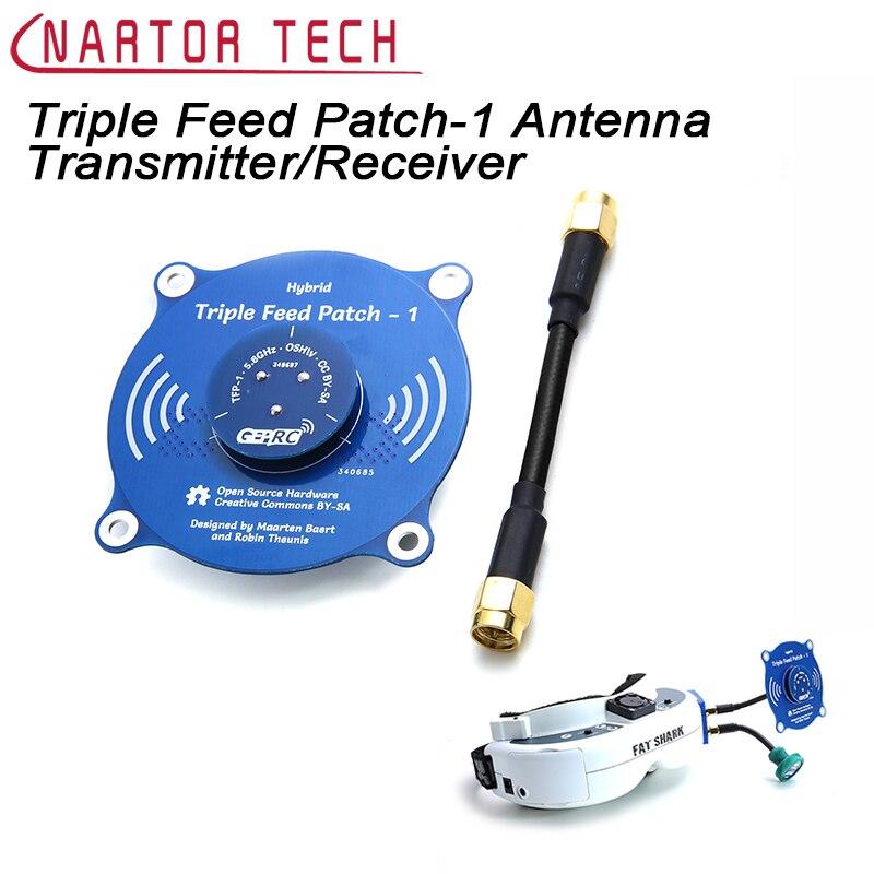 Triple Entraînement Patch-1 5.8G 9.4dBi Omni Directionnelle Antenne Émetteur Récepteur Antenne Pour Fat Shark FPV Vidéo Lunettes